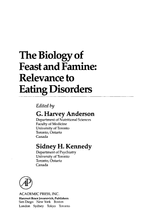 The Biology of Feast and Famine