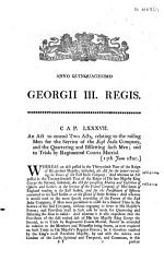 An Act To Amend Two Acts Relating To The Raising Men For The Service Of The East India Company And The Quartering And Billetting Such Men And To Trials By Regimental Courts Martial Book PDF
