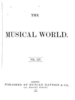The Musical World