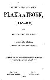 Nederlandsch-Indisch plakaatboek, 1602-1811: Deel 9