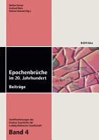 Epochenbr  che im 20  Jahrhundert PDF