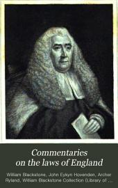 Commentaries on the Laws of England: In Four Books ; with an Analysis of the Work, Volume 2