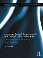 Corporate Social Responsibility and Global Labor Standards PDF