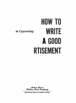 How to Write a Good Advertisement PDF