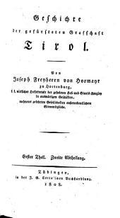 Geschichte der gefürsteten Graffschaft Tirol: 1,2