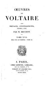 Oeuvres de Voltaire: Volume17