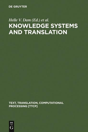 Knowledge Systems and Translation PDF