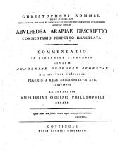 Christophori Rommel Abulfedea Arabiae descriptio commentario perpetuo illustrata