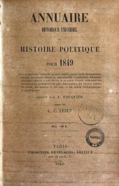 Annuaire historique universel, ou Histoire politique pour ... C.L. Lesur