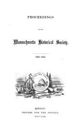 Proceedings of the Massachusetts Historical Society: Volume 6