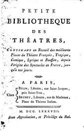 Petite bibliotheque des théatres: Le sabotier, ou, Les huit sols. Le rival par amitié, ou, Frontin Quakre