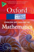 The Concise Oxford Dictionary of Mathematics PDF