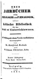 Neue Jahrbücher für Philologie und Paedogogik: Bände 1-2