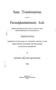 Some Transformations of Parasulphaminebenzoic Acid PDF