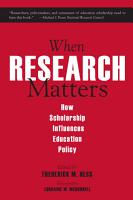 When Research Matters PDF
