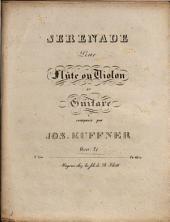 Sérénade pour flûte ou violon et guitare oeuvr. 71