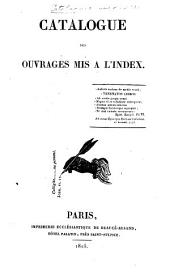 Catalogue des ouvrages mis à l'Index: Volume 5