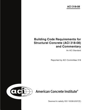 Building Code Requirements for Structural Concrete (ACI 318-08) and Commentary