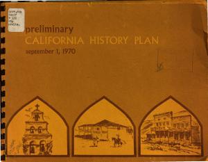 Preliminary California History Plan