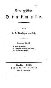 Biographische Denkmale: Th. Paul Flemming. Freiherr Friedrich von Canitz. Johann von Besser