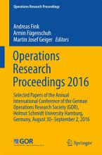 Operations Research Proceedings 2016 PDF