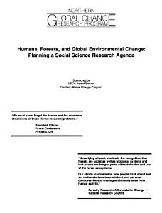 Humans  Forests  and Global Environmental Change PDF