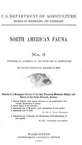 Results of a Biological Survey of the San Francisco Mountain Region and Desert of the Little Colorado, Arizona