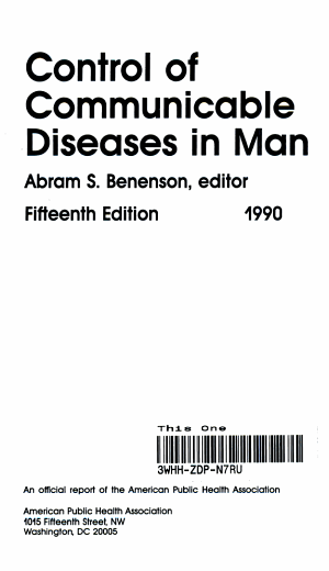 Control of Communicable Diseases in Man PDF