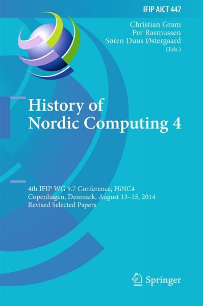 History of Nordic Computing 4 PDF