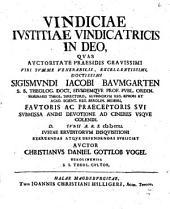 Vindiciae iustitiae vindicatricis in deo