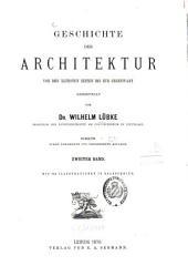 Geschichte der Architektur: von der ältesten Zeiten bis zur Gegenwart, Band 2