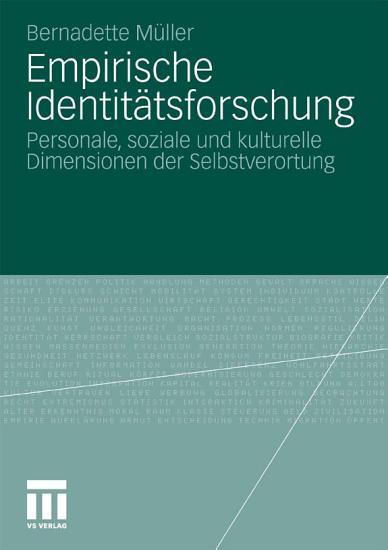 Empirische Identit  tsforschung PDF