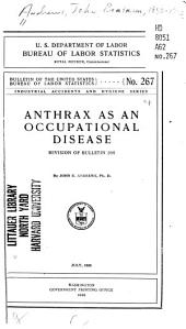 Anthrax as an Occupational Disease