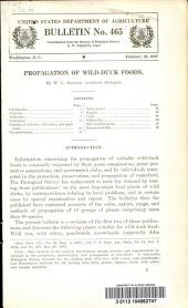 Propagation of wild-duck foods