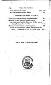Mémoires de Valentin Conrart. Mémoires du Père Berthod
