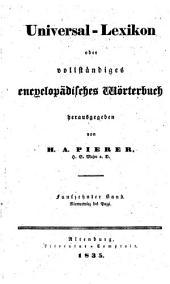 Universal-lexikon, oder Vollständiges encyclopädisches wörterbuch: Band 15