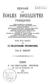Exposé des écoles socialistes françaises... aperçu sur le collectivisme international