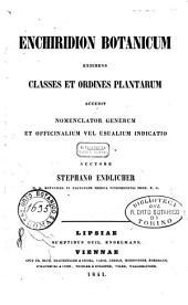 Enchiridion botanicum exhibens classes et ordines plantarum accedit nomenclator generum et officinalium vel usualium indicatio