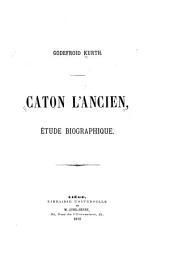 Caton l'Ancien: étude biographique
