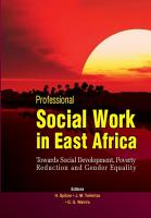 Professional Social Work in East Africa PDF