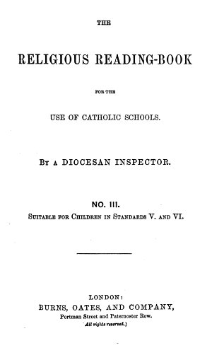 The religious reading book  by a diocesan inspector