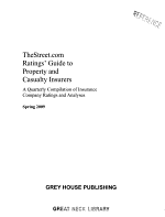 TheStreet.com Ratings' Guide to Property & Casualty Insurers, Spring 2009