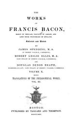 The Works of Francis Bacon: Volume 10