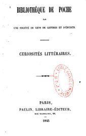 Curiosités littéraires