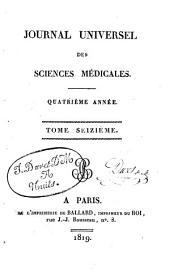 Journal universel des sciences médicales: Volume16