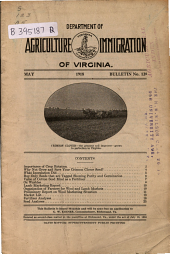 Bulletin - Virginia Department of Agriculture and Immigration: Issue 128