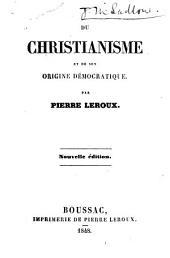 Du Christianisme et de son origine démocratique