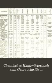 Chemisches Handwörterbuch zum Gebrauche für Chemiker, Techniker, Aerzte, Pharmaceuten, Landwirte, Lehrer und für Freunde der Naturwissenschaft