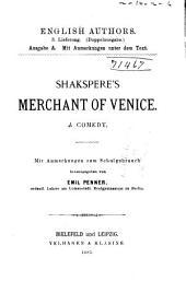 Shakspere's Merchant of Venice: A Comedy