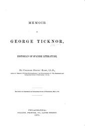 Memoir of George Ticknor, Historian of Spanish Literature